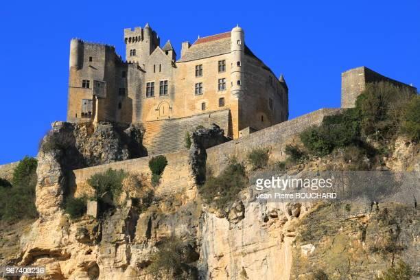 Chateau de Beynac en Périgord Noir classé parmi les plus beaux villages de France Dordogne 16 novembre 2012