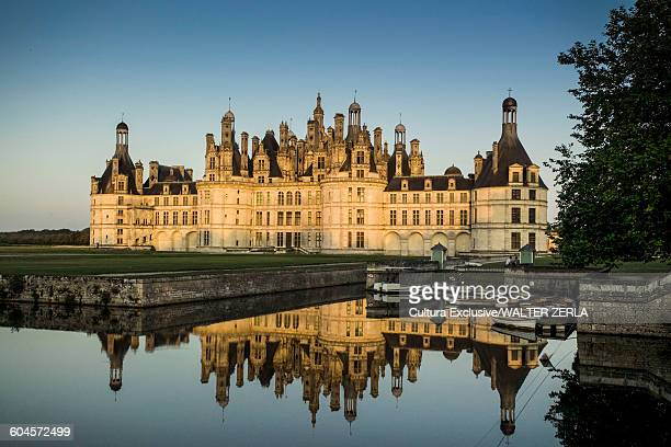 Chateau de Chambord and moat, Loire Valley, France