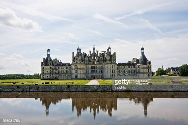 Chateau De Chambord Reflected In The Cosson River France