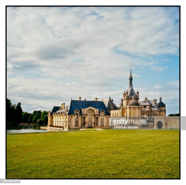 Chateau de Chantilly and the castle's moat are photographed for Vanity Fair Magazine on June 11, 2011 in Chantilly, France.