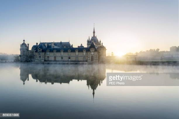 chateau de chantilly - hauts de france stock photos and pictures