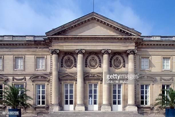 Chateau de Compiegne rear facade, 1751-1789, Picardy. France, 18th century. Detail.