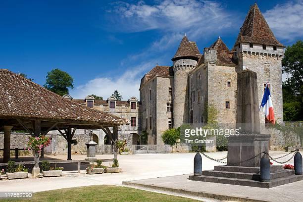 Chateau de la Marthonie XV XVI XVII Century architecture in historic town of St Jean de Cole France