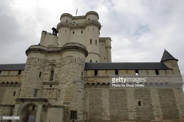 chateau de vincennes on outskirts of paris - vincennes stockfoto's en -beelden