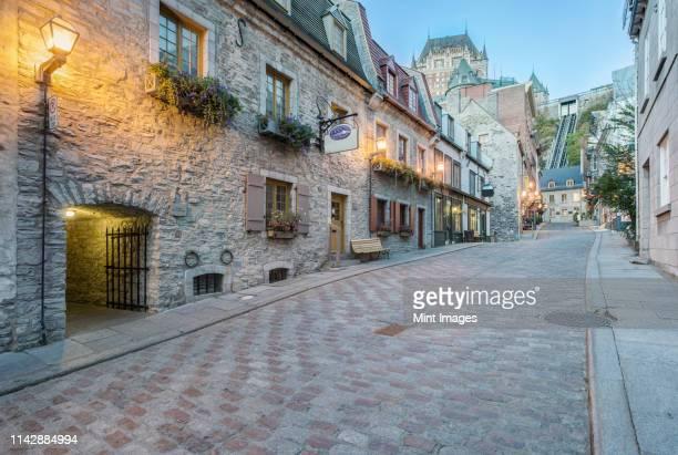 chateau frontecac, quebec, canada - ケベック市 ストックフォトと画像