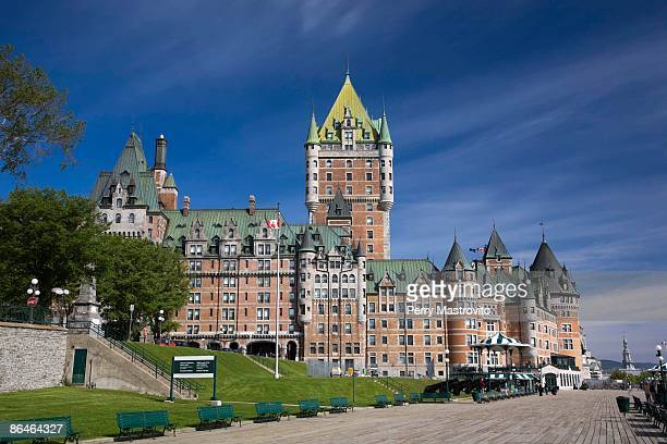 Chateau Frontenac and Dufferin Terrace, Old Quebec City, Quebec, Canada
