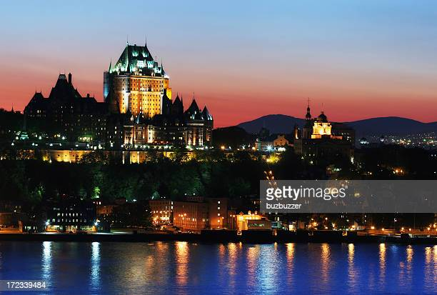 Chateau Frontenac and the Old Quebec City at Sunset