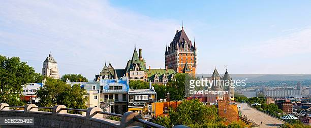 Chateau Frontenac, Dufferin Terrace and Price building; Quebec City, Quebec, Canada