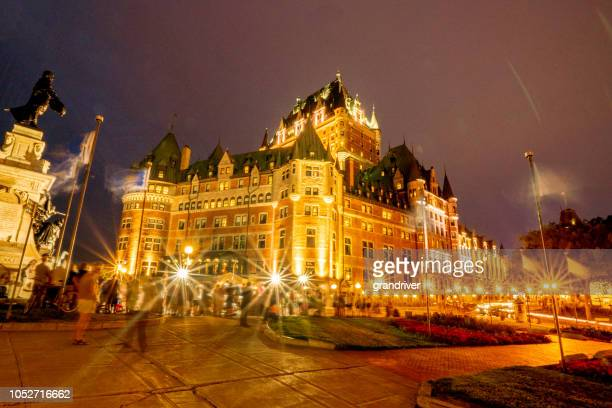 chateau frontenac hotel in quebec city, province of quebec, canada - chateau frontenac hotel stock pictures, royalty-free photos & images
