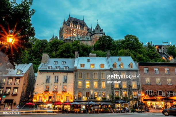 chateau frontenac hotel in quebec city, province of quebec, canada - history stock pictures, royalty-free photos & images