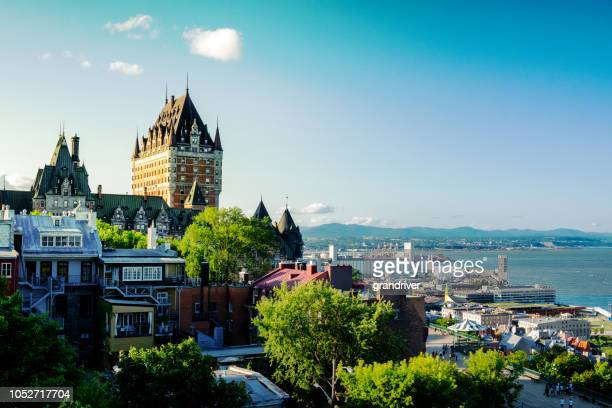 chateau frontenac hotel in quebec city, province of quebec, canada - quebec stock pictures, royalty-free photos & images