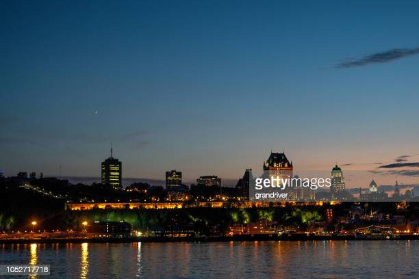 chateau frontenac hotel in quebec city, province of quebec, canada - river st lawrence stock pictures, royalty-free photos & images