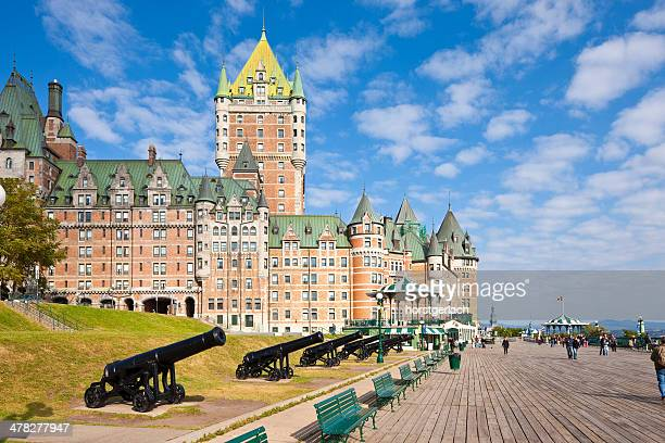 chateau frontenac hotel, quebec city - chateau frontenac hotel stock pictures, royalty-free photos & images