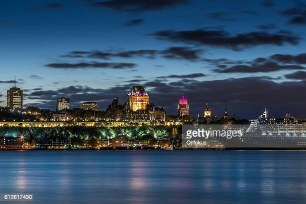 Chateau Frontenac Illuminated at Night, Quebec City, Canada