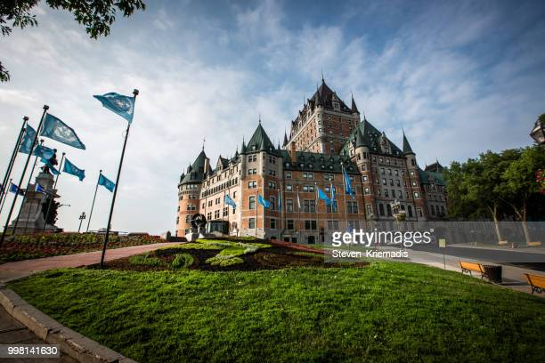 chateau frontenac - quebec city - old quebec stock pictures, royalty-free photos & images