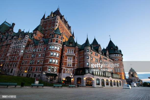 chateau frontenac - quebec city - chateau frontenac hotel stock pictures, royalty-free photos & images