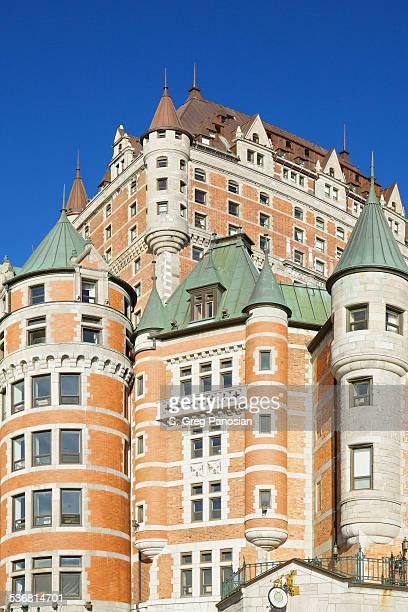 chateau frontenac  - quebec - chateau frontenac hotel stock pictures, royalty-free photos & images