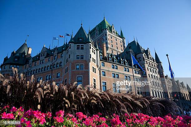 Chateau Frontenac With Flowers In Summer, Quebec City