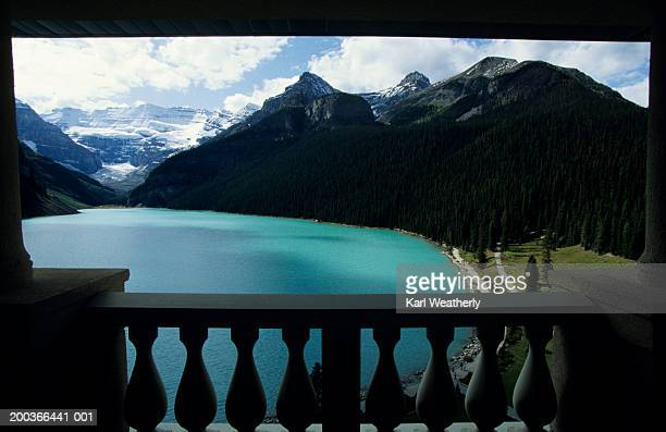 Chateau Lake Louise, view from balcony, Alberta, Canada