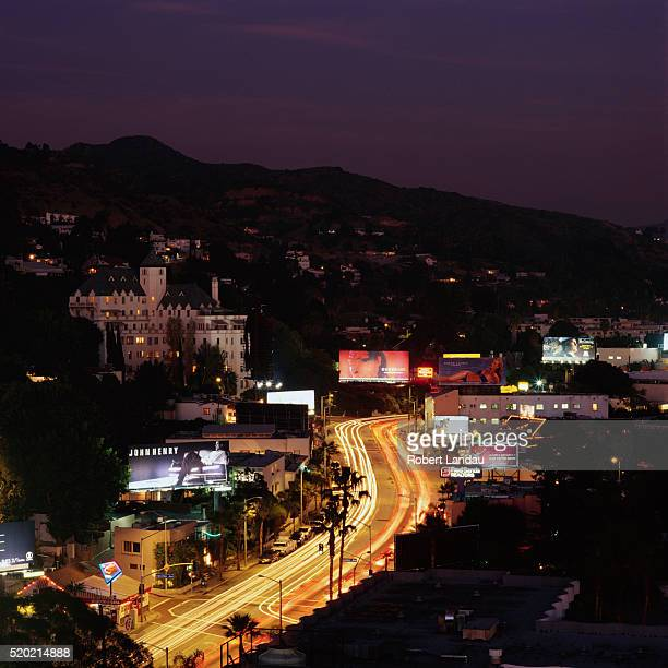 Chateau Marmont and Sunset Boulevard
