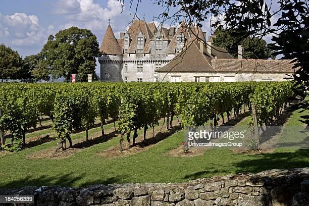 Chateau Monbazillac vineyard Dordogne Aquitaine France Europe vines agriculture travel tourist destination