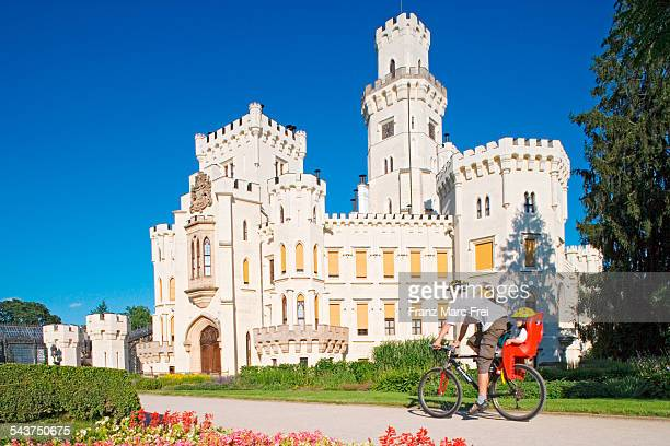 chateau of hluboka - czech republic stock pictures, royalty-free photos & images