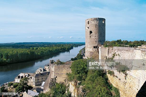 Chateau on the Vienne river Chinon France