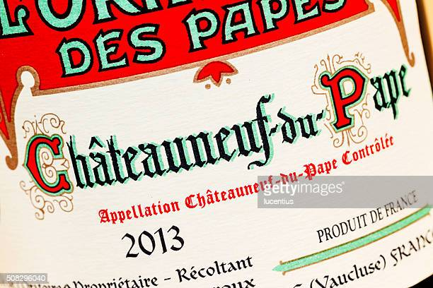 Chateauneuf-du-Pape wine bottle label