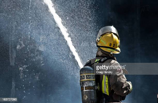Chatham-Kent Firefighter 82 applies water to the red stuff; at the rear of the home. 2PM. Chatham. Tones go off inside stations 1 and 2. The...