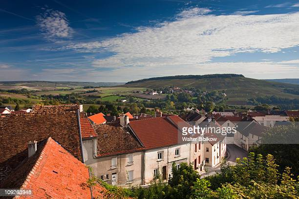 chatillon sur marne, town overview - marne stock pictures, royalty-free photos & images