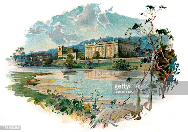 Chatsworth from the Derwent by Chas Wilkinson.