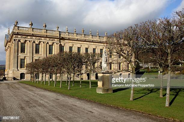 Chatsworth House, Derbyshire, the ancestral seat of the Dukes of Devonshire, 10th March 2011. The present house was designed by William Talman and...