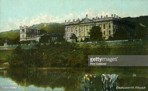 Chatsworth House', late 19th-early 20th century. The first house at Chatsworth near Bakewell in Derbyshire was built by Bess of Hardwick and her...