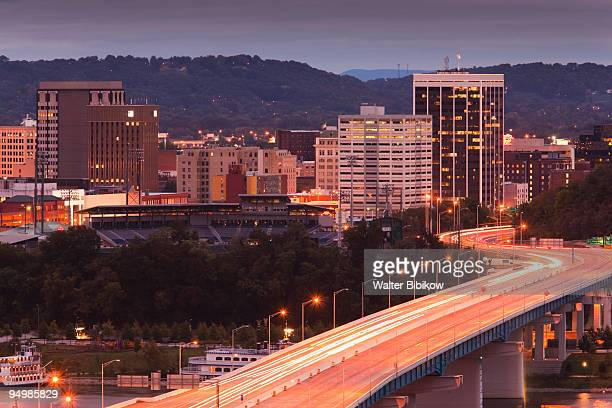 chattanooga, high angle view of city and rt. 27 - chattanooga stock pictures, royalty-free photos & images