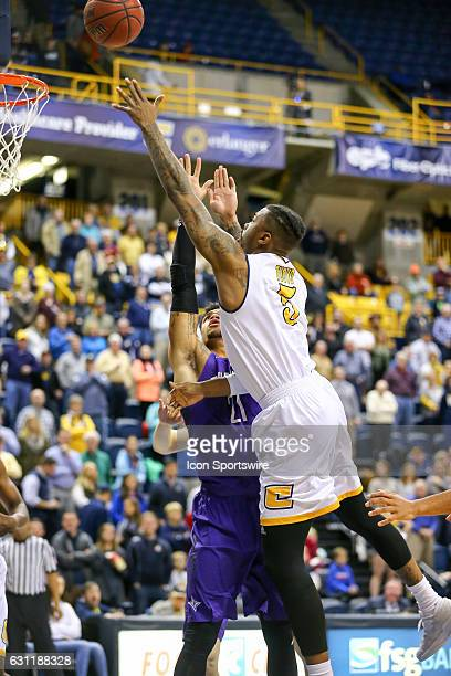 Chattanooga Mocs forward Justin Tuoyo shoots the ball during the first half of the NCAA basketball game between Furman and UT Chattanooga on January...