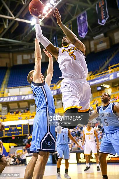 Chattanooga Mocs forward Justin Tuoyo shoots the ball during the second half of the NCAA basketball game between The Citadel Bulldogs and the UT...