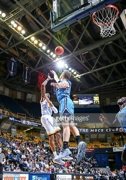 Chattanooga Mocs forward Tre' McLean shoots the ball during the first half of the NCAA basketball game between The Citadel Bulldogs and the UT...