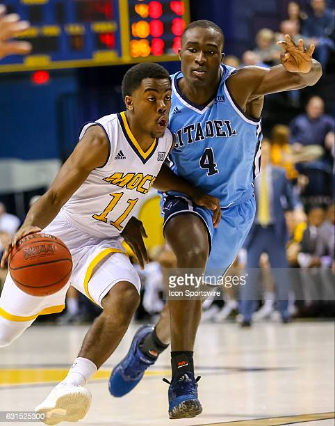 Chattanooga Mocs guard Makale Foreman drives to the basket during the first half of the NCAA basketball game between The Citadel Bulldogs and the UT...