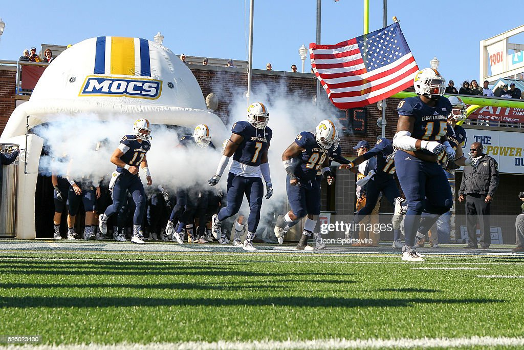 NCAA FOOTBALL: NOV 26 FCS Playoffs First Round - Weber State at Chattanooga : News Photo