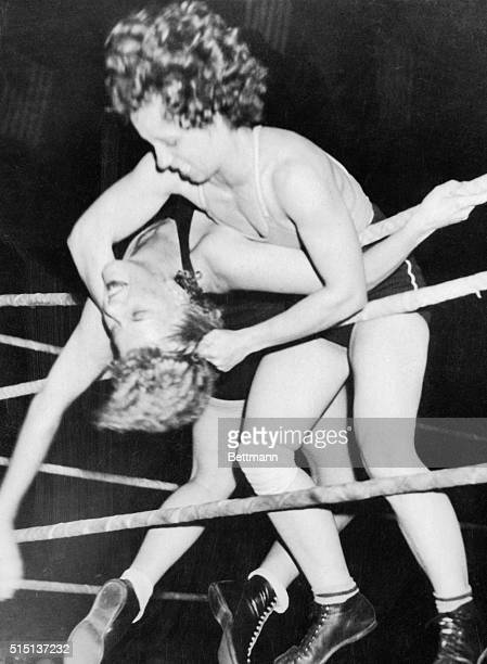 Chattanooga Tennessee staged a wrestling championship for women at the Memorial Auditorium recently Champion Clara Mortensen of Gendale Ca met...