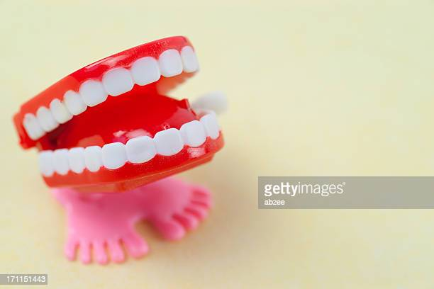 chatter teeth - wind up toy stock photos and pictures