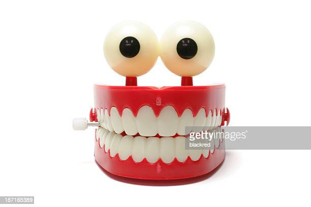 chattering teeth - smiley face stock pictures, royalty-free photos & images