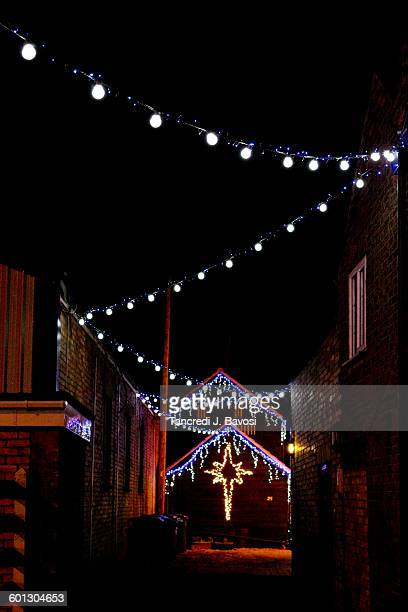 chatteris xmas lights - bavosi stock photos and pictures