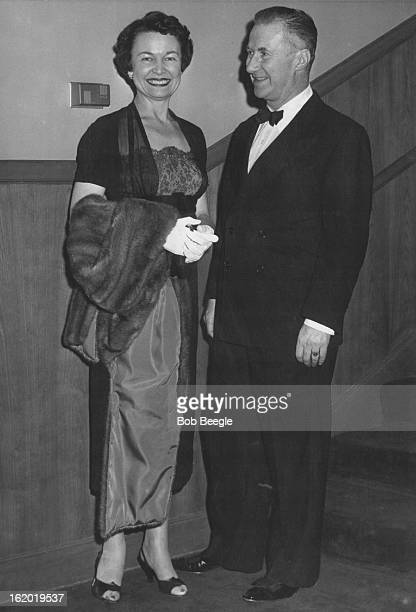 FEB 16 1956 FEB 17 1956 Chatting about the play are Mrs Francis Van Derbur and Alexander Ivo director of the Civic theater The next play will be The...