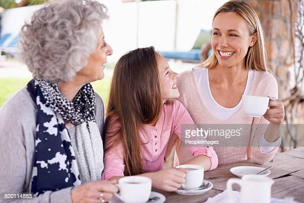Chatting over tea