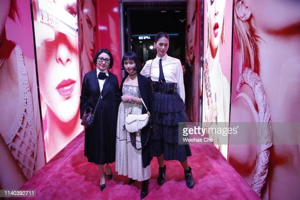 Chau Bui and Paula Verhoeven attend Dior Addict Stellar Shine launch at Layers 57 on April 04 2019 in Seoul South Korea