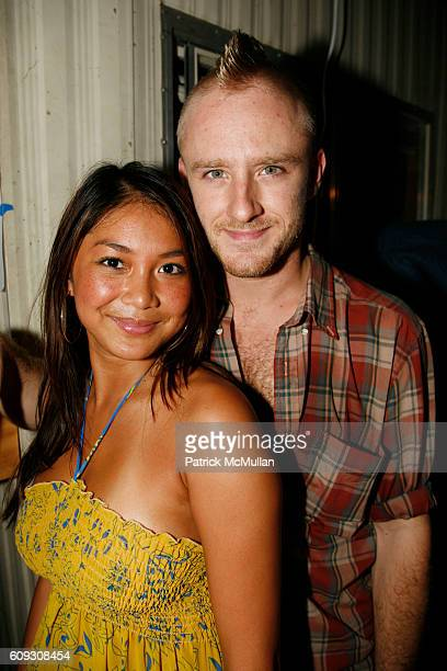Chau Ngo and Ben Foster attend 9th Annual Milk Summer BBQ at Milk Studios Loading Dock on July 12 2007 in New York City