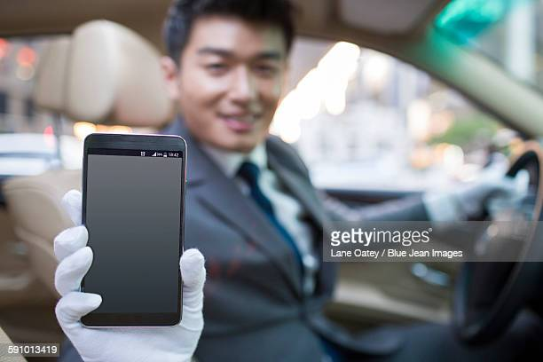 Chauffeur using smart phone as gps navigation for car