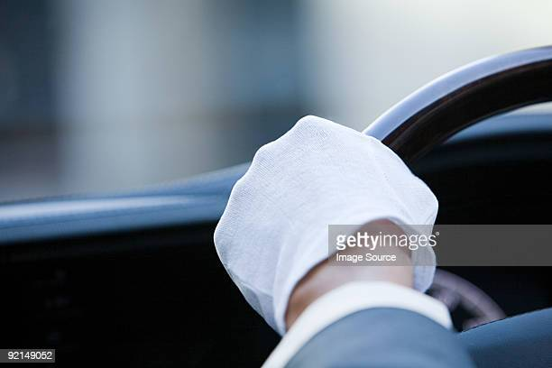a chauffeurs glove - white glove stock pictures, royalty-free photos & images