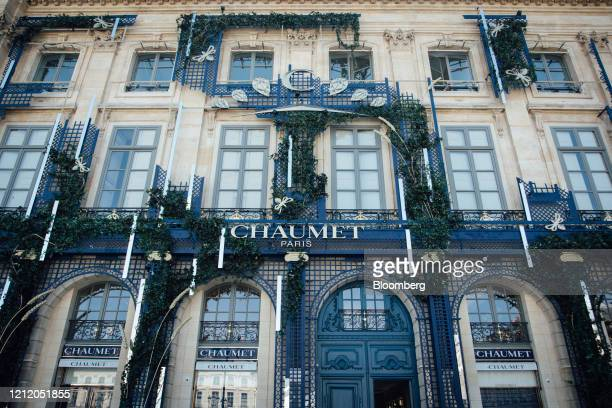 A Chaumet International SA luxury jewelry and wristwatch store operated by LVHM Moet Hennessy Louis Vuitton SE stands on Place Vendome in Paris...